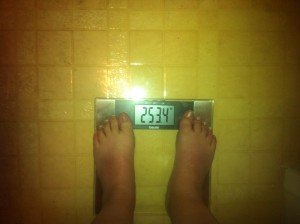 Weight as of January 19, 2013
